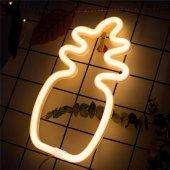 Ananas Tasarımlı Ledli Gece Lambası