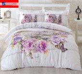 özdilek Nevresim Takımı Çift Kişilik Ranforce Floral Celina Pembe