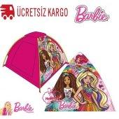 Barbie Çantalı Tente Çadır Barbie (Köpekli)