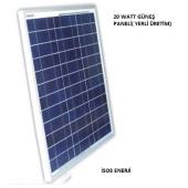 20 Watt Polikristal Güneş (Solar) Panel