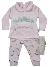 Pearly Baby Lüx Kadife Bebek Takım 3 6 9 12 Ay