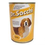 Dr.sacchi Köpek Konserve Tavuk Ve Hindi Etli 400gr