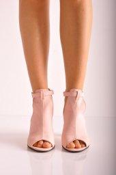 Bayan Günlük Topuklu Ayakkabı 88 Pudra Mat