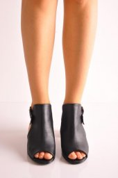Bayan Günlük Topuklu Ayakkabı 60 Mat Siyah Mat