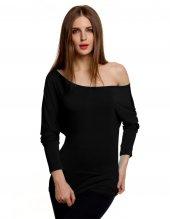 Japon Style Kadın Siyah Sandy Bluz