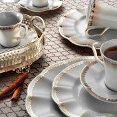 Kütahya Porselen Nil 83 Parça Yemek Takımı Bant Dekor 2741