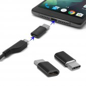 Samsung Galaxy S8 Plus Type C Otg Mini Type C Dönüştürücü Siyah