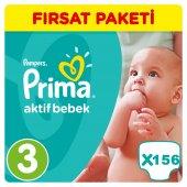 Prima Bebek Bezi No 3 Beden (5 9 Kg) 156 Adet Fırsat Paketi