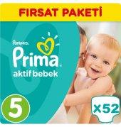 Prima Bebek Bezi No 5 Beden (11 18 Kg) 52 Adet Fırsat Paketi