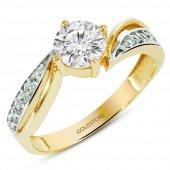 Goldstore 14 Ayar Altın Tek Taş Yüzük Grs10420
