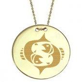 Goldstore 14 Ayar Altın Balık Burcu Madalyon Kolye Gp21080