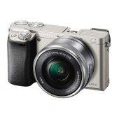Sony A6000 16 50mm Lensli Aynasız Fotoğraf Makinesi (Gümüş)