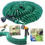 30 Metre Spiral Lüx Basınçlı Hortum Bahçe Araba Yıkama Hortumu