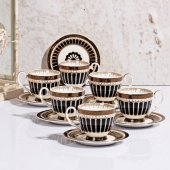 Kahve Fincan Takımı 6lı Siyah 90cc