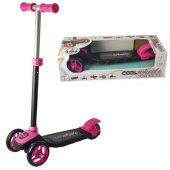 Cool Wheels Twistable Scooter Silikon 3 Tekerlekli Kız Pembe