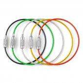 Renkli Paslanmaz Çelik Anahtarlık Kablo Halka