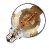 Vialicht 3w(20w) Led Spiral Rustik Glob Scog95 E27 2000k Gold