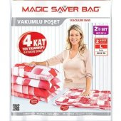 Magic Saver Bag 2li Large Vakumlu Hurç Poşet Seti