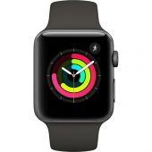 Apple Watch Seri 3 42mm Uzay Grisi Alüminyum Kasa Ve Gri Spor Kor