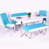 Evform Vega Açılır Masalı Bank Takımı Mutfak Masası Yemek Seti