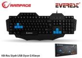 Everest Rampage Kb R01 Siyah Usb Makrolu Gaming Q Multimedia Klav
