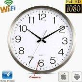 Duvar Saati Şeklinde Wifi Kumandalı Sınırsız İzleme 1080p Hd Kame