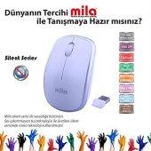 Classone Mila Silent Serisi Kablosuz Beyaz Gümüş Mouse (Ml400)
