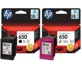 Hp 650 Siyah Ve Renkli Orijinal Kartuş Seti (Cz101a Cz102a)