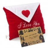Sevgiliye Hediye Zarflı Peluş Romantik Dekoratif Yastık