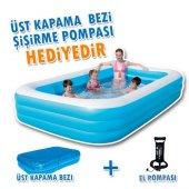 Bestway 54009 Dikdörtgen Aile Havuzu 3metre Örtü Pompa Havuz Seti