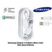 Samsung Galaxy S6 S7 Edge Plus Hızlı Şarj Kablosu Micro Usb Şarj