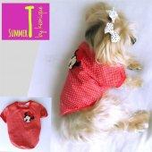 Kırmızı Miki Fare Köpek Tişört By Kemique Köpek Kıyafeti Köpe