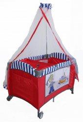 Crest Cr 208 Oyun Parkı Sepet Beşik Park Yatak Bebek Beşiği Denizci Kırmızı