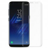 Samsung Galaxy S9 Plus Kavisli Tamperli Kırılmaz Cam Tam Kaplam