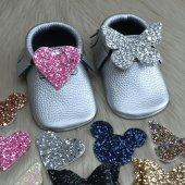 çıt Çıtlı Makosen Bebek Ayakkabı Gümüş Cv 441