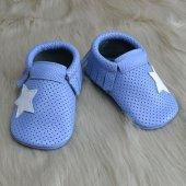 Yıldız Makosen Bebek Ayakkabı Mavi Cv 449