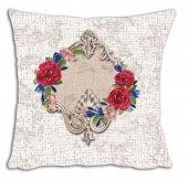 Mrs Pillow Andrea D 19 Desenli Kırlent 70x70cm Ebadında