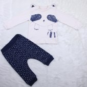 Raccon Kulaklı Pijama Takımı 5540 Lacivert