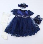 Pugi Bgo1 Lacivert Bebek Özel Gün Elbisesi
