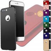 Iphone 6 6s Kılıf Fit Silikon Soft Mat Yüzey 2 Alana 1 Hediye