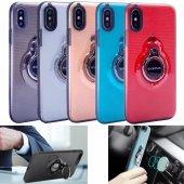 Iphone 6 Plus Kılıf Yüzük Tutucu Mıknatıs Parlak Silikon