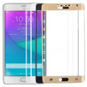 Samsung Galaxy Note Edge Kavisli Kırılmaz Erkan Koruyucu Cam