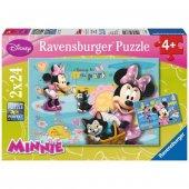 Ravensburger 2 X 24 Parça Çocuk Puzzle Minnie Mouse
