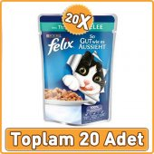 Felix Ton Balıklı Yetişkin Kedi Konservesi Pouch 20 X 100 Gr