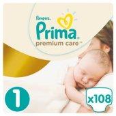 Prima Bebek Bezi Premium Care 1 Beden Yenidoğan Jumbo Paket 108 Adet