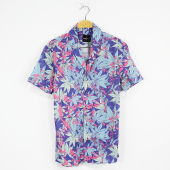 Bpm Erkek Gömlek Kısa Kollu Hawai Strem Çiçekli Gömlek