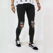 2y Erkek Jeans Pantolon Diz Lazer Ön Fermuar