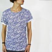 Erkek Tişört Salaş Erkek Etnik Desen T Shirt