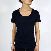 Basic Oval Kesim Erkek Tişört 10 Renk Derin Yaka Düz T Shirt