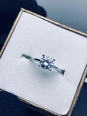 925 Ayar Gümüş Tek Taş Yüzüğü